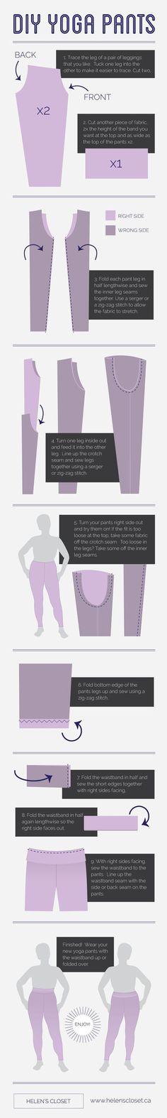 nice DIY Yoga Pants by Helen's Closet...