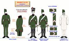 Artiglieria a cavallo di linea truppa e sottufficiali 1812