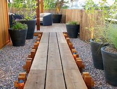Contemporary Deck with Fence Gazebo Pavilion wood decking - exotic ipe / / to / solid Pathway Trellis Cozy Backyard, Backyard Gazebo, Backyard Landscaping, Landscaping Ideas, Outdoor Projects, Garden Projects, Wood Walkway, Walkway Ideas, Yard Design