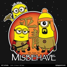 Misbehave T-Shirt | $10 Firefly and Despicable Me mashup tee from RIPT today only!