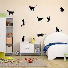 Ussore Cats Wall Stickers Art Decals Mural Wallpaper Decor DIY Decoration for Home living room bedroom bathroom kitchen * Check this awesome product by going to the link at the image.Note:It is affiliate link to Amazon.