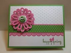 Spring card. Love the colors together.