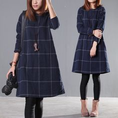 Loose round neck dress - Buykud  - 1