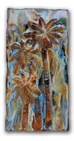 "Kitchen Tile Palms Trees Design 8.5""x17.5"" MP17"