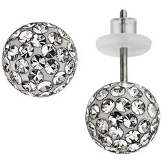 Belly Button Rings, Stud Earrings, Kugel, Jewelry, Medium, Fashion, Silver Jewellery, Gemstone Earrings, Crystals