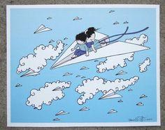 Paper Plane Print Uncovet