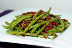 Pikantné fazuľky Green Beans, Food And Drink, Vegetables, Fitness, Pump, Vegetable Recipes, Veggie Food, Keep Fit, Veggies
