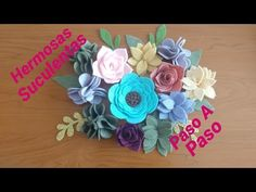 Suculentas FIELTRO 🌸 (Paso a Paso) - YouTube Make It Yourself, Youtube, Blog, Handmade, Holiday Wreaths, Step By Step, Succulents, Felt, Flowers