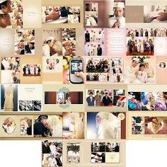 Template Kolase Wedding Book 4 File .psd Bonus Ratusan Image Overlays Selalu Update