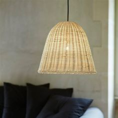 suspension en rotin forme longiligne bloomingville luminaires pinterest. Black Bedroom Furniture Sets. Home Design Ideas