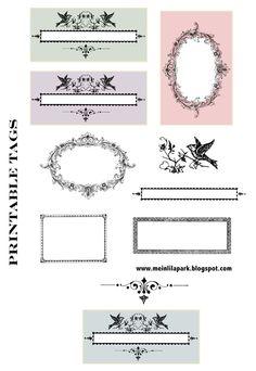 Vintage Tags and Ornaments – FREE printable | MeinLilaPark – digital freebies