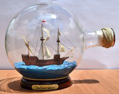Deliverance Ship in Bottle