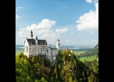 Neuschwanstein Castle | Bavaria, Germany This castle, located in Schwangu, Germany can be found on a furrowed hill in Germany's Bavarian region. It was built and paid for by Ludwig II of Bavaria as a personal retreat and honorary tribute to Richard Wagner, a German composer and conductor. It was not until the reclusive King Ludwig died in 1886 that it became open for public visitation.
