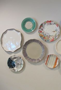 How to hang a plate wall Christie Chase
