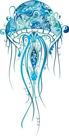 Jelly fish - not a fan of the jelly fish, but love the design style and colors
