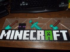 Minecraft Logo Perler Beads by SerenitySaz on DeviantArt