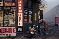 Inge Morath (1923-2002 Austrian) • Street Corner at Worlds End London 1954