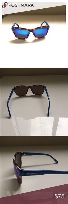 Michael Kors Turtle Shell Blue Lens Sunglasses Barely worn and super cute! The lens are mirrored blue. Turtle shell and blue frames! Michael Kors Accessories Sunglasses