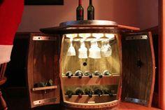 barrels of fun. A wine cabinet from a wine barrel.