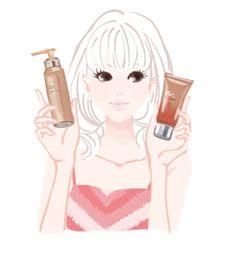 【web】アットコスメ キャンペーンページ ミヤモトヨシコのガールズイラスト