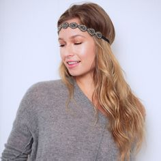 Abbey Headband #hairbands #lovetassel Every TASSEL Headband is carefully crafted using delicate seed beads, rhinestone chains and jewels, all strung and set using a tambour technique that is completely done by hand. Each band is backed with genuine leather and has an adjustable strap that is finished with a signature TASSEL charm.