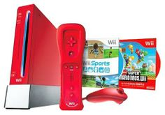 Wii Hardware Bundle - Red by Nintendo