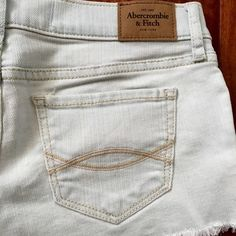 Abercrombie Denim Shorts White washed denim shorts. Very light blue wash. Great condition! Worn maybe just once or twice. Size 25. Abercrombie & Fitch Shorts Jean Shorts