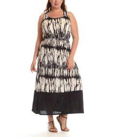 cba2f4b6fdb Black Tie-Dye Maxi Dress - Plus by Shoreline
