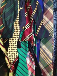 Preppy ties in an assortment of styles.