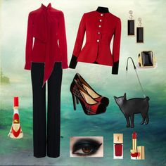 """In Rosso e Nero :-)"" by lady-grimilde on Polyvore"