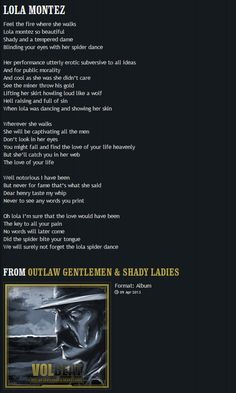 VOLBEAT | Lola Montez - I'll never forget the day I was told this was my song...