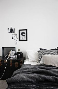 I love this bed, cozy is my style // moody hues by the style files, via Flickr