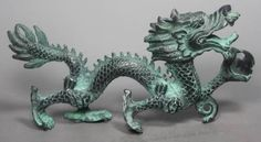 Home Decor  Metal Crafts Collection Chinese Folk Old Bronze Handwork Dragon Statue