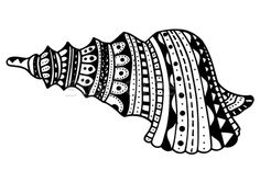 Zentangle stylized shell Сток-фото © frescomovie