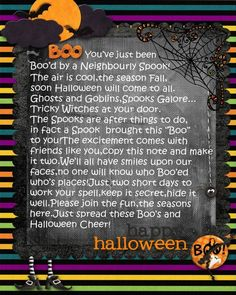 You've been boo'd! {I used to LOVE this tradition.. so fun}