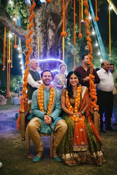 Indian wedding decor ideas inspiration orange marigold | www.devikanarain.com
