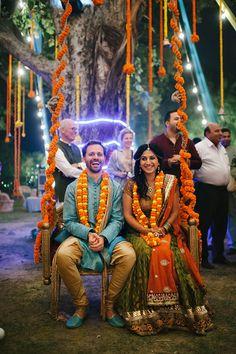 Indian wedding decor ideas inspiration orange marigold | www.devikanarain.com