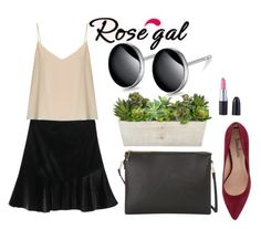 """""""// RoseGal-women style // 25/4"""" by lightcoti ❤ liked on Polyvore featuring MANGO, Neiman Marcus and Raey"""