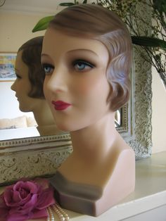 Reproduction Vintage Display Head - Annie: Vintage Style Mannequins - Stunning Display and Sewing Forms