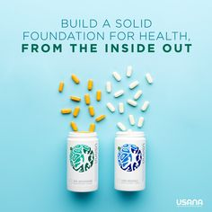 """Living a healthy lifestyle begins with the right foundation. That's where the CellSentials from USANA come in. The USANA® CellSentials™ start you off with the crucial nutritionals you need to be your best. Contact me for more information. Usana Vitamins, Health Vitamins, Health And Beauty, Health And Wellness, Wellness Quotes, Feed Goals, True Health, Oxidative Stress, Nutritional Supplements"