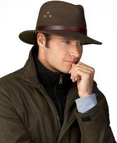 Country Gentlemen Dickens Wool Felt Fedora Hat - Mens Hats, Gloves & Scarves - Macy's