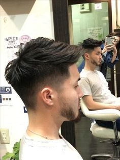 Mens Hairstyles Pompadour, Mens Hairstyles With Beard, Hairstyles Haircuts, Haircuts For Men, Classic Mens Hairstyles, Asian Haircut, Asian Men Hairstyle, Short Hair Undercut, Curly Hair Men