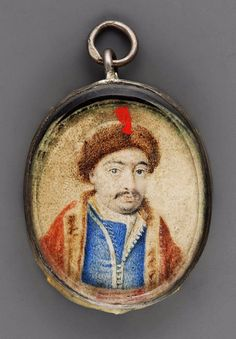 Miniature of a man in fur costume by Anonymous from Poland, 17th century, Muzeum Narodowe w Warszawie (MNW), previously considered to depict Bohdan Khmelnytsky