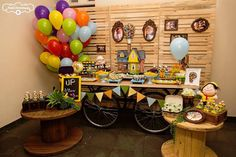 Party Display from a Disney's Up Inspired Birthday Party via Kara's Party Ideas! KarasPartyIdeas.com (15)