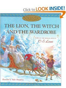The Lion, the Witch and the Wardrobe (picture book edition) (The Chronicles of Narnia): C. S. Lewis, Tudor Humphries: 9780060556501: Amazon.com: Books  {this is a good version of the story with really pretty illustrations}