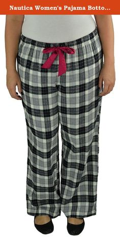 Nautica Women's Pajama Bottoms X-Large Grey Combo. Nautica is a leading water-inspired global lifestyle brand including men's, women's and children's apparel and accessories and a complete home collection. Nautica products are classics that are rich in performance, color and authentic style.