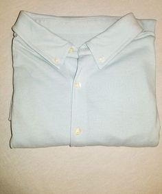 81c97b02227939 Men s Merona Polo Shirt Blue Short Sleeve Size XL TG Polyester Classic Fit  A20