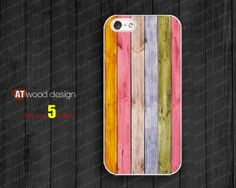 IPhone 5 case IPhone 4 case colorized wood case by NewPhoneCase