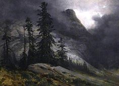 Storm at Handeck  Alexandre Calame - 1838