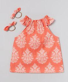 Tootie Bugs -Look at this #zulilyfind! Sunset Jesse Top & Hair Tie Set - Toddler & Girls #zulilyfinds